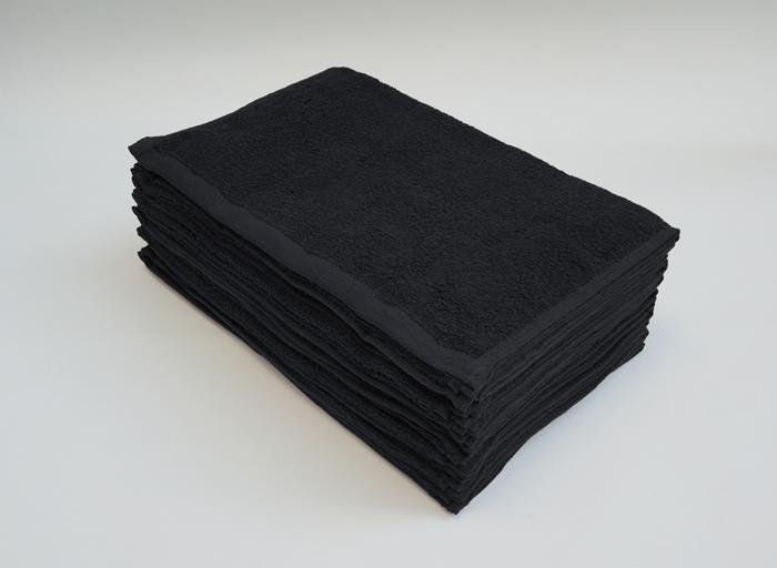 フェイスタオル ブラック 業務用 黒
