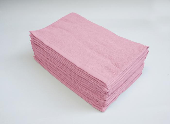 ピンクのフェイスタオル コットン 業務用タオル