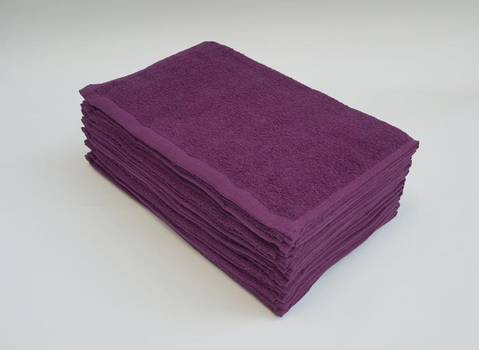 美容室 フェイスタオル 紫色 パープル 業務用タオル